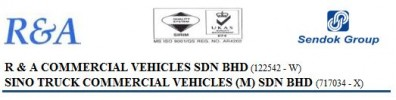 R&A Commercial Vehicles Sdn Bhd